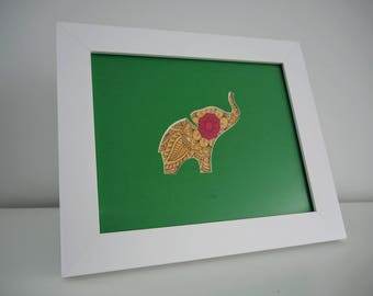 Elephant Silhouette Hand Cut Art, Unique and Individual Artwork, Beth and Bills Handcrafted