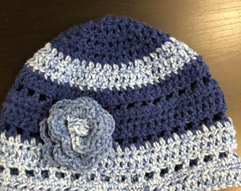 Adult Size Beanie with flower