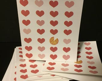 Valentines pizza your heart card
