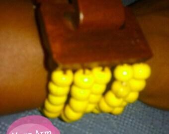 Handcrafted,wooden beaded bracelet