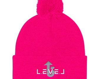 LevelUp Pom Pom Knit Cap