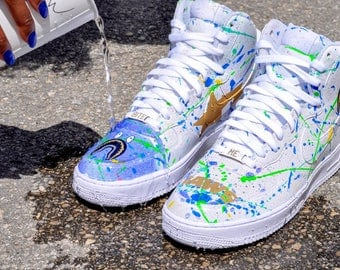 """Nike Air Force 1 High """"Land of the Sharks"""" Size 10"""