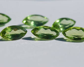Peridot, Beautiful, Clean, Beautiful Green, Faceted Marquise Shape, 12 x 6 mm, 1.95-2.0 ct