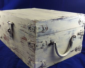 Shabby Chic Wooden Box- UpCycled