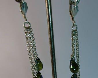 3 chains earrings