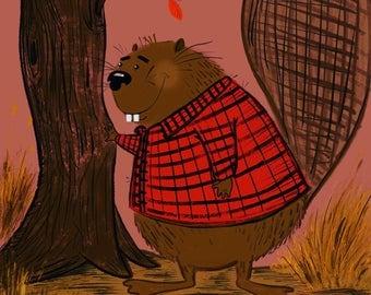 Beaver examines high quality building materials.