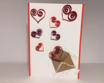 Handmade Quilling Card with Heart for Morther Day