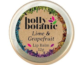 Lime & Grapefruit Lip Balm (Handmade, natural)