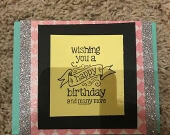 Sparkly Washi Tape Birthday Card