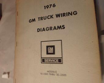 1976 general motors GM truck wiring diagrams models 10-1500 thru 30-3500