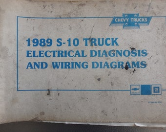 1989 chevrolet electrical diagnosis and diagrams- S-10 models