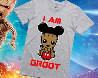 Baby Groot / Mickey Mouse Groot / Guardians of the Galaxy  shirt / Disney Shirt