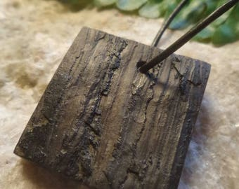 Beautiful, organic pendant made of fossil slate # Handcrafted # Fossils # Gifts for her # Gifts for him # Jewelery # Nature # Fern # Plant