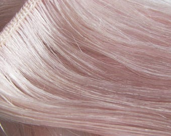 Pink hair extensions etsy rose coral pink clip in human hair extensions champagne pink highlights for dark light hair pmusecretfo Choice Image