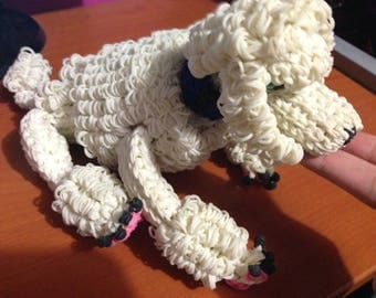 Rainbow Loom White Poodle