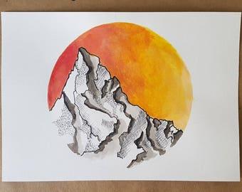 Sunset in reds/oranges