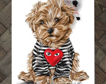 Puppy Love Card-brown or black