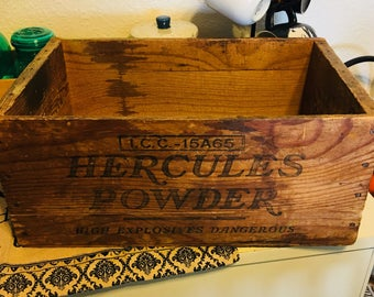 Wooden box, Vintage decor