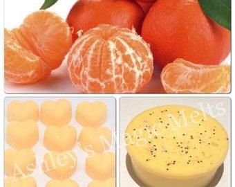 3 mandarin wax melts, fruit wax melts, cheap wax melts, strong wax melts, highly scented wax melts, fruity scented wax melts, citrus wax