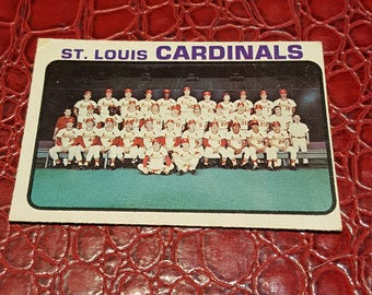 Team  1973 O-Pee-Chee #219 Cardinals Team
