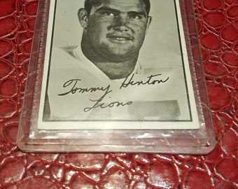 1961 Topps CFL #7 Tommy Hinton BC Lions - exmt.Combined shipping