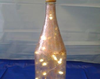 Rose Gold Lighted Wine Bottle