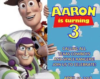 Toy Story Birthday Invitation (Digital File)