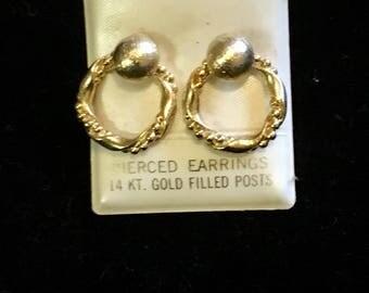 Vintage gold filled dangle earrings
