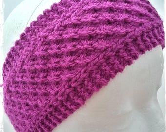 Dark Pink Ear Warmer, Deep Pink Ear Warmer, Knitted Ear Warmer, Pink Ear Warmer, Winter Wear,Autumn Wear