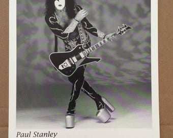 KISS: Paul Stanley For Washburn Guitars 8X10 B&W Promotional Photo