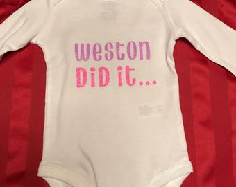 Children's Custom Shirts and Onesies