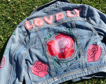 Floral Kid's Denim Jacket