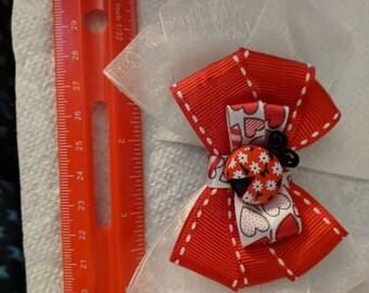 Ladybug Valentine's Day Hair Clip