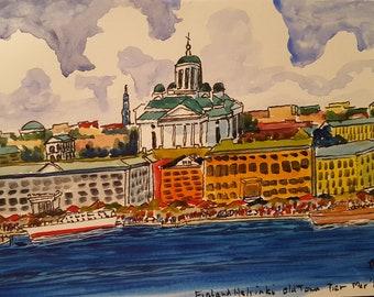 Helsinki Finland Old Town Pier