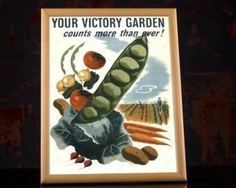 WW2 US Food Propaganda Poster - Second World War American, military kitchen, vintage kitchen decor, antique kitchen decor, army kitchen