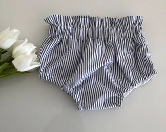 Blue chambray Stripe bloomers