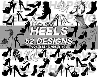 heels svg, women shoe, high heels, fashion, stiletto, pumps, woman heel, boots, clipart, svg,dxf, png, silhouette, cut out, die cut