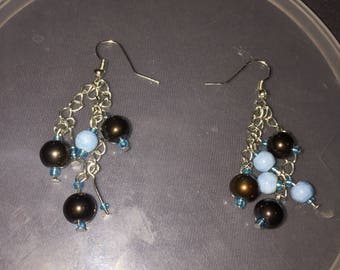Blue and brown  dangles