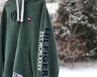 Vintage Tommy Hilfiger Spell out Hoodie