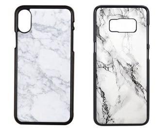 Marble Phone Case, White Marble Phone Case, White Marble Iphone x Case, White Marble Iphone 7 Plus Case, iPhone 8, Samsung Galaxy S8 Case