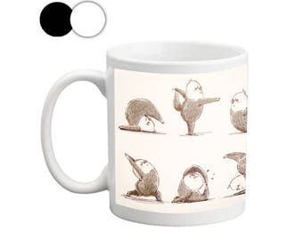 Sloth Yoga - The Definitive Guide Mugs, Mugs with Sayings,Gift for Her,Gift for Him,Yoga Mug, Gift Mugs, Sloth Mug, Cute Mugs
