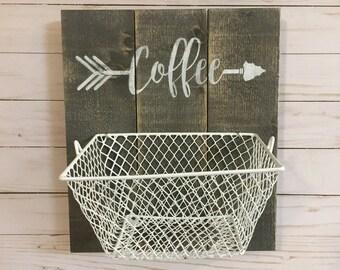 Coffee K cup storage basket