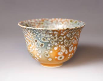 Glost-fired Earthen Teacup;Handmade;Taiwan pottery;Japanese style;Ceramicware;Unique gift;pottery;Multi-coloured cup; tea ceremony;food safe