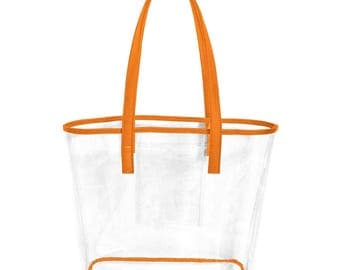 ORANGE STADIUM BAG!! Great for Clemson Games!!! (You could also use for Florida Gators or Tennessee) Monogramming Available!
