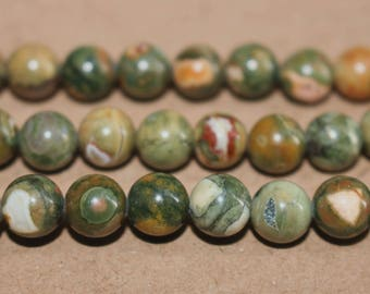 15 Inches Full strand,Birdseye Rhyolite  smooth round beads 6mm 8mm 10mm 12mm ,loose beads,semi-precious stone,