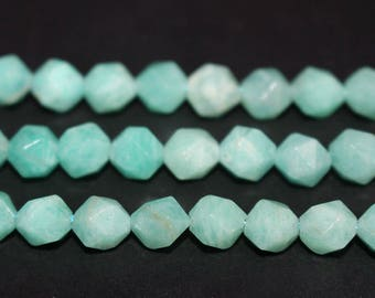 15 Inches Full Strand,Natural Amazonite stars cut nugget round beads 6mm 8mm 10mm 12mm High quality beads,loose beads,semi-precious stone