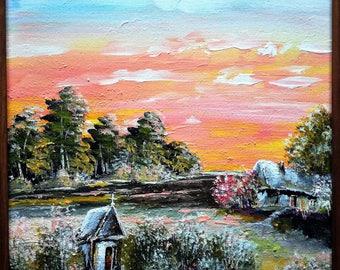 Landscape Acrylic Painting  24/30 cm