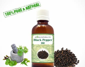 Black Pepper Essential Oil Pure & Natural For Aromatherapy