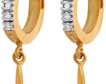 Zeneme Trendy Alloy Huggie Earring