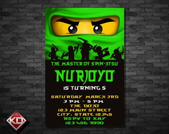 ninja go invitation - Personalized Invitation - Custom Birthday - Printables Invitation - Digital file Download